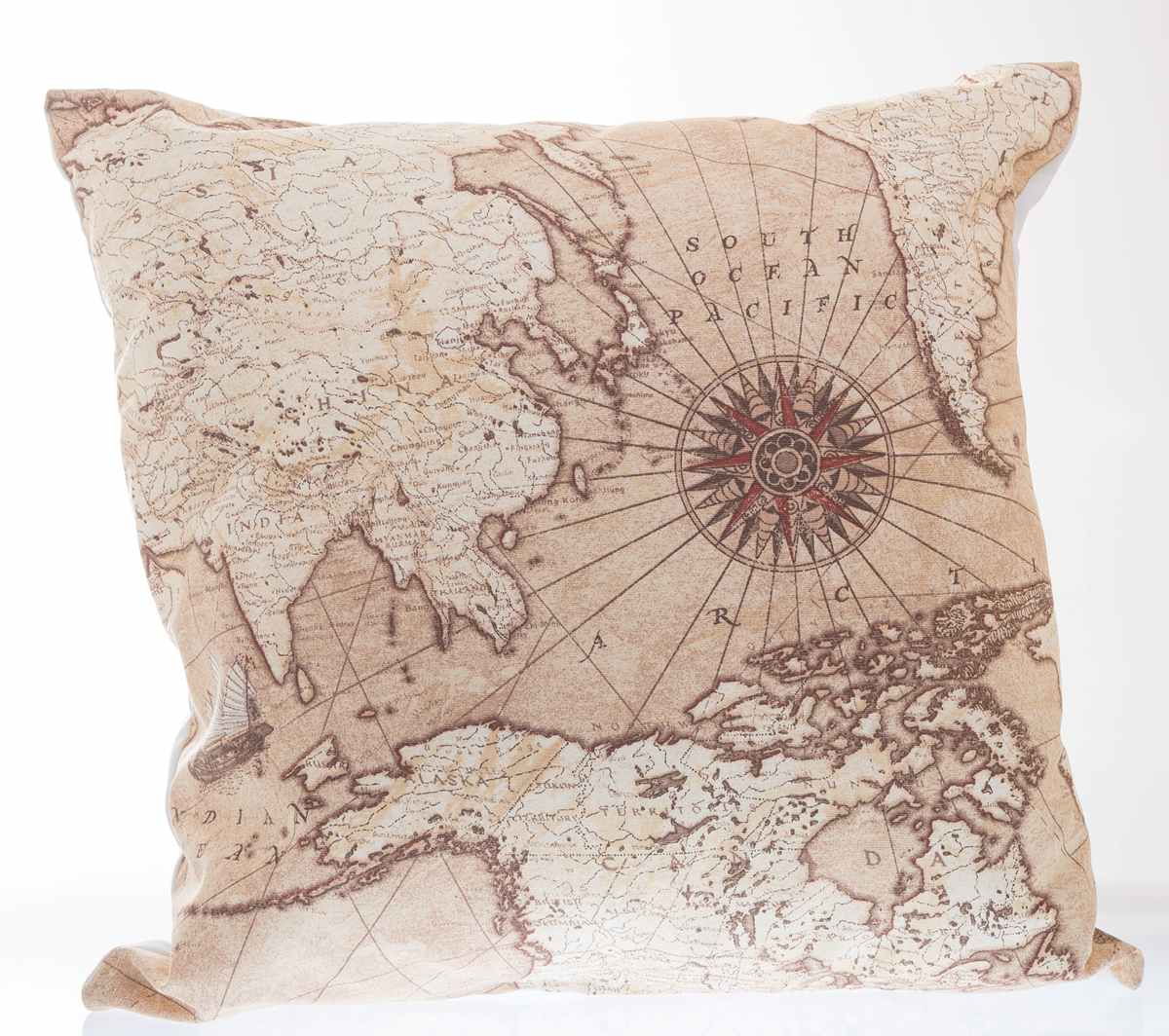 Vintage Brown Old World Map Lampshade Ceiling Light Table Lamp